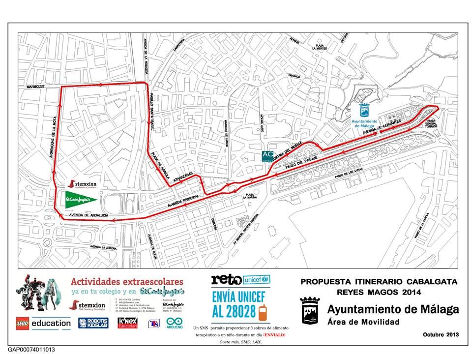 Itinerio Cabalgata 2014 Stemxion