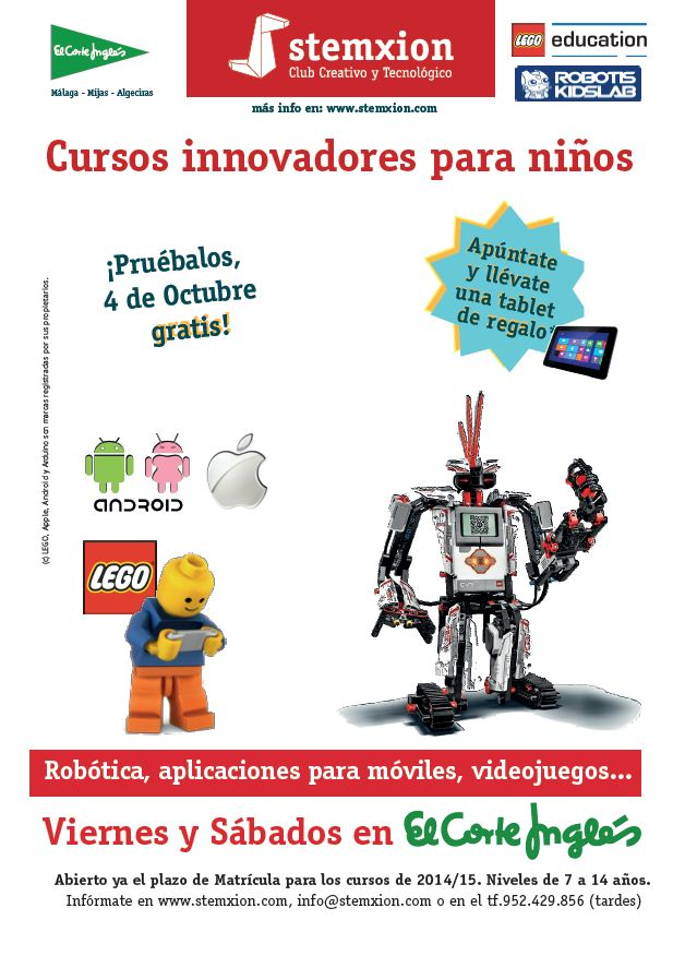 Flyer Cursos stemxion ECI Málaga