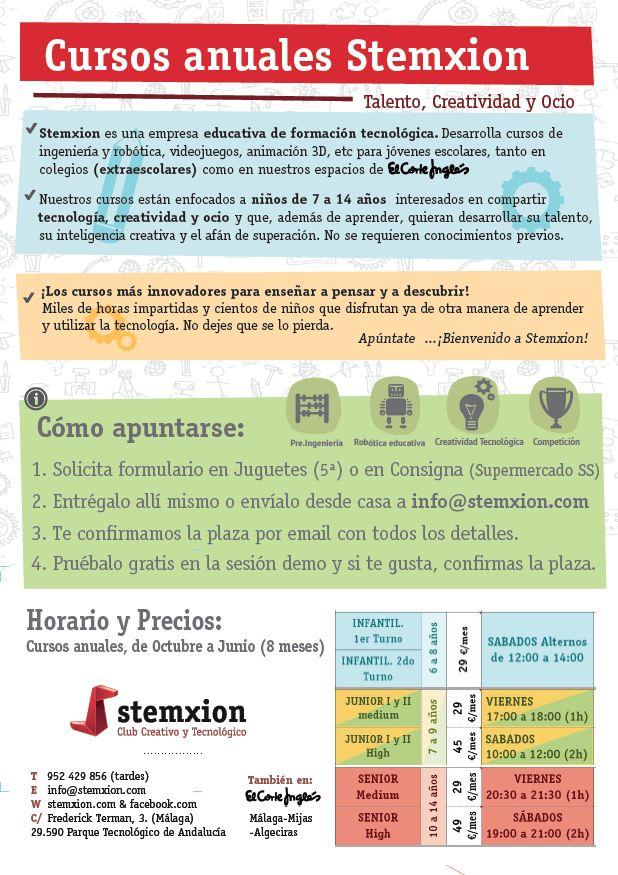 Flyer b Cursos stemxion ECI Málaga